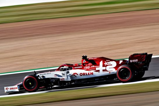 Kimi Raikkonen (FIN) Alfa Romeo Racing C39.                                07.08.2020. Formula 1 World Championship, Rd 5, 70th Anniversary Grand Prix, Silverstone, England, Practice Day. - www.xpbimages.com, EMail: requests@xpbimages.com © Copyright: Dungan / XPB Images