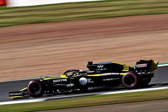 Daniel Ricciardo (AUS) Renault F1 Team RS20.                                07.08.2020. Formula 1 World Championship, Rd 5, 70th Anniversary Grand Prix, Silverstone, England, Practice Day. - www.xpbimages.com, EMail: requests@xpbimages.com © Copyright: Dungan / XPB Images