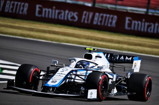 Nicholas Latifi (CDN) Williams Racing FW43. 07.08.2020. Formula 1 World Championship, Rd 5, 70th Anniversary Grand Prix, Silverstone, England, Practice Day. - www.xpbimages.com, EMail: requests@xpbimages.com © Copyright: Batchelor / XPB Images