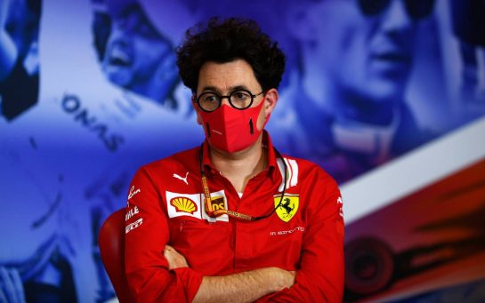 Mattia Binotto (ITA) Ferrari Team Principal in the FIA Press Conference. 07.08.2020. Formula 1 World Championship, Rd 5, 70th Anniversary Grand Prix, Silverstone, England, Practice Day. - www.xpbimages.com, EMail: requests@xpbimages.com - copy of publication required for printed pictures. Every used picture is fee-liable. © Copyright: FIA Pool Image for Editorial Use Only