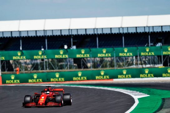 Sebastian Vettel (GER) Ferrari SF1000.                                07.08.2020. Formula 1 World Championship, Rd 5, 70th Anniversary Grand Prix, Silverstone, England, Practice Day. - www.xpbimages.com, EMail: requests@xpbimages.com © Copyright: Dungan / XPB Images