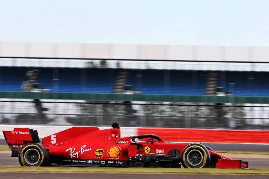 Sebastian Vettel (GER) Ferrari SF1000. 07.08.2020. Formula 1 World Championship, Rd 5, 70th Anniversary Grand Prix, Silverstone, England, Practice Day. - www.xpbimages.com, EMail: requests@xpbimages.com © Copyright: Batchelor / XPB Images
