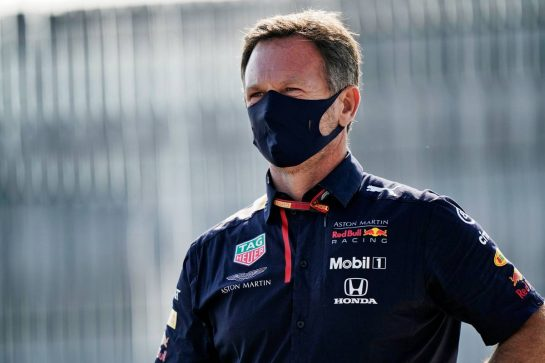 Christian Horner (GBR) Red Bull Racing Team Principal.                                08.08.2020. Formula 1 World Championship, Rd 5, 70th Anniversary Grand Prix, Silverstone, England, Qualifying Day. - www.xpbimages.com, EMail: requests@xpbimages.com © Copyright: Dungan / XPB Images