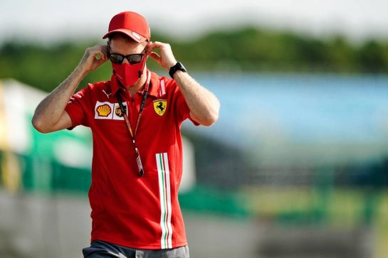 Sebastian Vettel (GER) Ferrari.                                08.08.2020. Formula 1 World Championship, Rd 5, 70th Anniversary Grand Prix, Silverstone, England, Qualifying Day. - www.xpbimages.com, EMail: requests@xpbimages.com © Copyright: Dungan / XPB Images