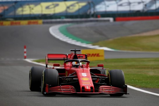 Sebastian Vettel (GER) Ferrari SF1000.08.08.2020. Formula 1 World Championship, Rd 5, 70th Anniversary Grand Prix, Silverstone, England, Qualifying Day.- www.xpbimages.com, EMail: requests@xpbimages.com © Copyright: Batchelor / XPB Images