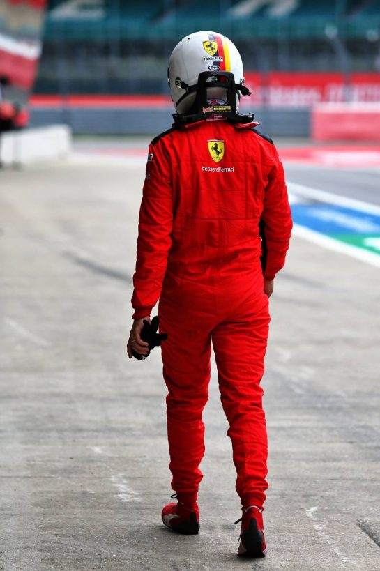 Sebastian Vettel (GER) Ferrari. 08.08.2020. Formula 1 World Championship, Rd 5, 70th Anniversary Grand Prix, Silverstone, England, Qualifying Day. - www.xpbimages.com, EMail: requests@xpbimages.com © Copyright: Moy / XPB Images
