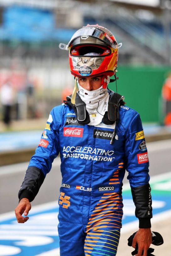 Carlos Sainz Jr (ESP) McLaren. 08.08.2020. Formula 1 World Championship, Rd 5, 70th Anniversary Grand Prix, Silverstone, England, Qualifying Day. - www.xpbimages.com, EMail: requests@xpbimages.com © Copyright: Moy / XPB Images