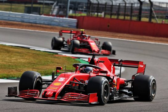 Sebastian Vettel (GER) Ferrari SF1000. 09.08.2020. Formula 1 World Championship, Rd 5, 70th Anniversary Grand Prix, Silverstone, England, Race Day. - www.xpbimages.com, EMail: requests@xpbimages.com © Copyright: Batchelor / XPB Images
