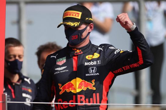1st place Max Verstappen (NLD) Red Bull Racing RB16.09.08.2020. Formula 1 World Championship, Rd 5, 70th Anniversary Grand Prix, Silverstone, England, Race Day.- www.xpbimages.com, EMail: requests@xpbimages.com © Copyright: Batchelor / XPB Images