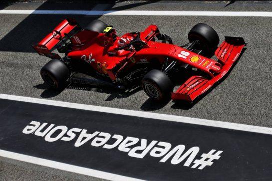 Charles Leclerc (MON) Ferrari SF1000. 15.08.2020. Formula 1 World Championship, Rd 6, Spanish Grand Prix, Barcelona, Spain, Qualifying Day. - www.xpbimages.com, EMail: requests@xpbimages.com © Copyright: Batchelor / XPB Images
