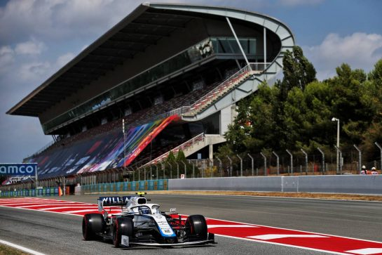 Nicholas Latifi (CDN) Williams Racing FW43. 15.08.2020. Formula 1 World Championship, Rd 6, Spanish Grand Prix, Barcelona, Spain, Qualifying Day. - www.xpbimages.com, EMail: requests@xpbimages.com © Copyright: Batchelor / XPB Images