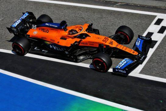 Carlos Sainz Jr (ESP) McLaren MCL35. 15.08.2020. Formula 1 World Championship, Rd 6, Spanish Grand Prix, Barcelona, Spain, Qualifying Day. - www.xpbimages.com, EMail: requests@xpbimages.com © Copyright: Batchelor / XPB Images