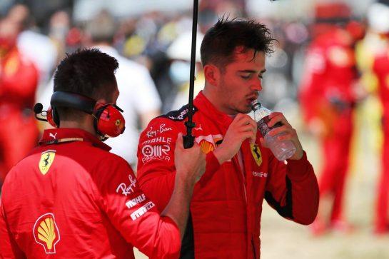 Charles Leclerc (MON) Ferrari on the grid. 16.08.2020. Formula 1 World Championship, Rd 6, Spanish Grand Prix, Barcelona, Spain, Race Day. - www.xpbimages.com, EMail: requests@xpbimages.com © Copyright: Batchelor / XPB Images