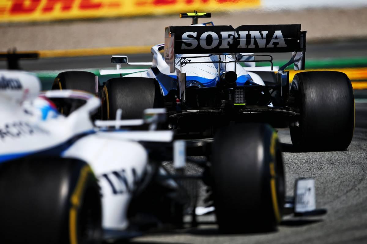 Nicholas Latifi (CDN) Williams Racing FW43 leads team mate George Russell (GBR) Williams Racing FW43.