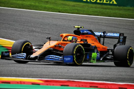 Lando Norris (GBR) McLaren MCL35. 28.08.2020. Formula 1 World Championship, Rd 7, Belgian Grand Prix, Spa Francorchamps, Belgium, Practice Day. - www.xpbimages.com, EMail: requests@xpbimages.com © Copyright: Batchelor / XPB Images