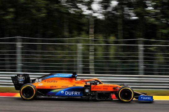 Carlos Sainz Jr (ESP) McLaren MCL35. 28.08.2020. Formula 1 World Championship, Rd 7, Belgian Grand Prix, Spa Francorchamps, Belgium, Practice Day. - www.xpbimages.com, EMail: requests@xpbimages.com © Copyright: Batchelor / XPB Images