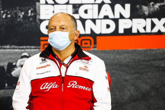 Frederic Vasseur (FRA) Alfa Romeo Racing Team Principal in the FIA Press Conference. 28.08.2020. Formula 1 World Championship, Rd 7, Belgian Grand Prix, Spa Francorchamps, Belgium, Practice Day. - www.xpbimages.com, EMail: requests@xpbimages.com - copy of publication required for printed pictures. Every used picture is fee-liable. © Copyright: FIA Pool Image for Editorial Use Only