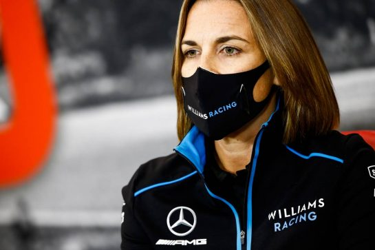 Claire Williams (GBR) Williams Racing Deputy Team Principal in the FIA Press Conference. 28.08.2020. Formula 1 World Championship, Rd 7, Belgian Grand Prix, Spa Francorchamps, Belgium, Practice Day. - www.xpbimages.com, EMail: requests@xpbimages.com - copy of publication required for printed pictures. Every used picture is fee-liable. © Copyright: FIA Pool Image for Editorial Use Only