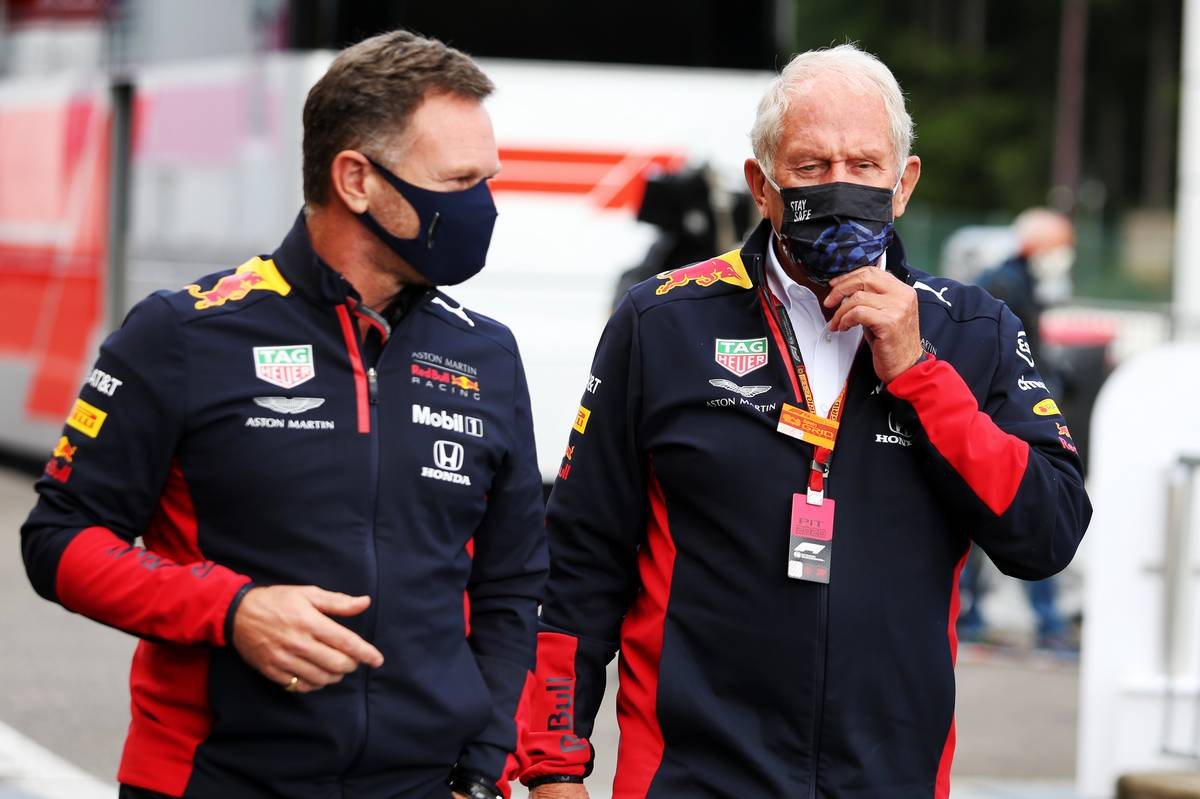 Christian Horner (GBR) Red Bull Racing Team Principal with Dr Helmut Marko (AUT) Red Bull Motorsport Consultant.