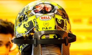 Norris forced to ditch 'offensive' special Belgian GP helmet