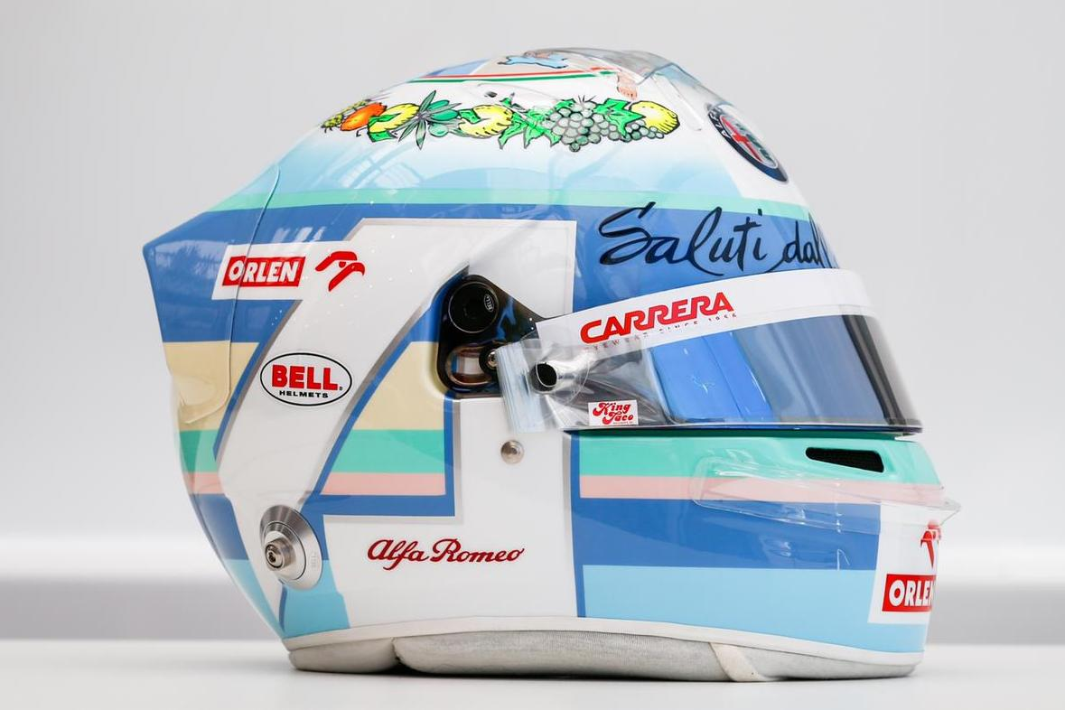 Norris, Russell and Giovinazzi sport special lids at Monza