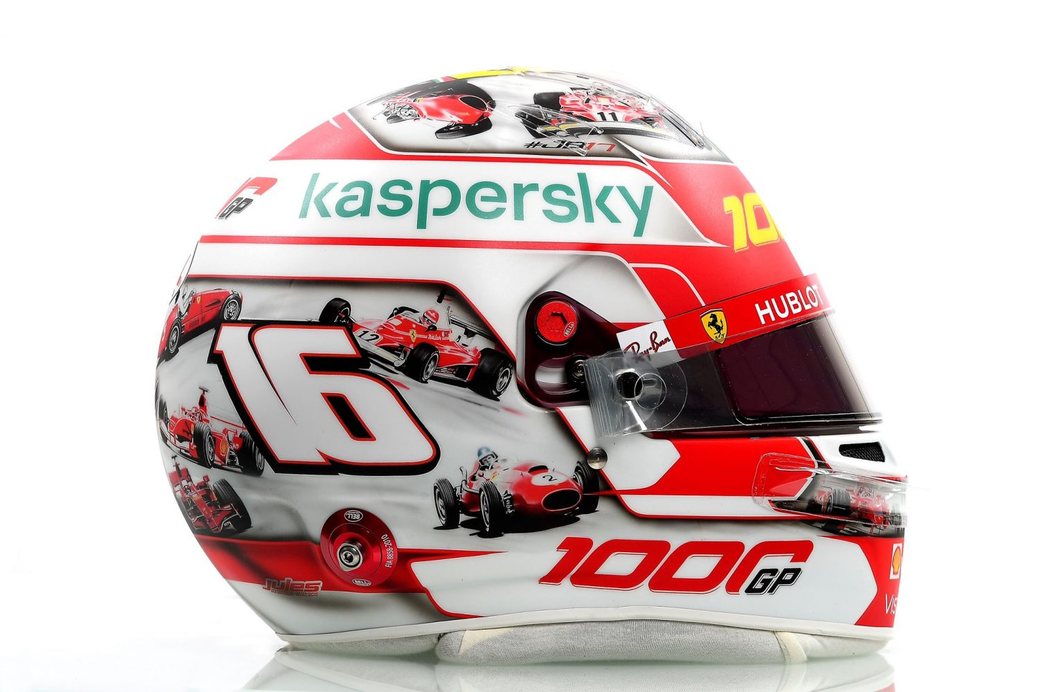 Leclerc celebrates 1000th GP with special lid