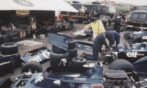 Sharing space in F1 back in the day