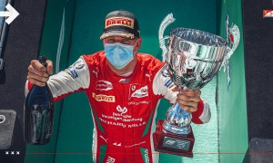 Schumacher aims to reclaim father's win record from Hamilton
