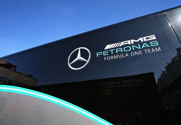 Mercedes AMG F1 logo.