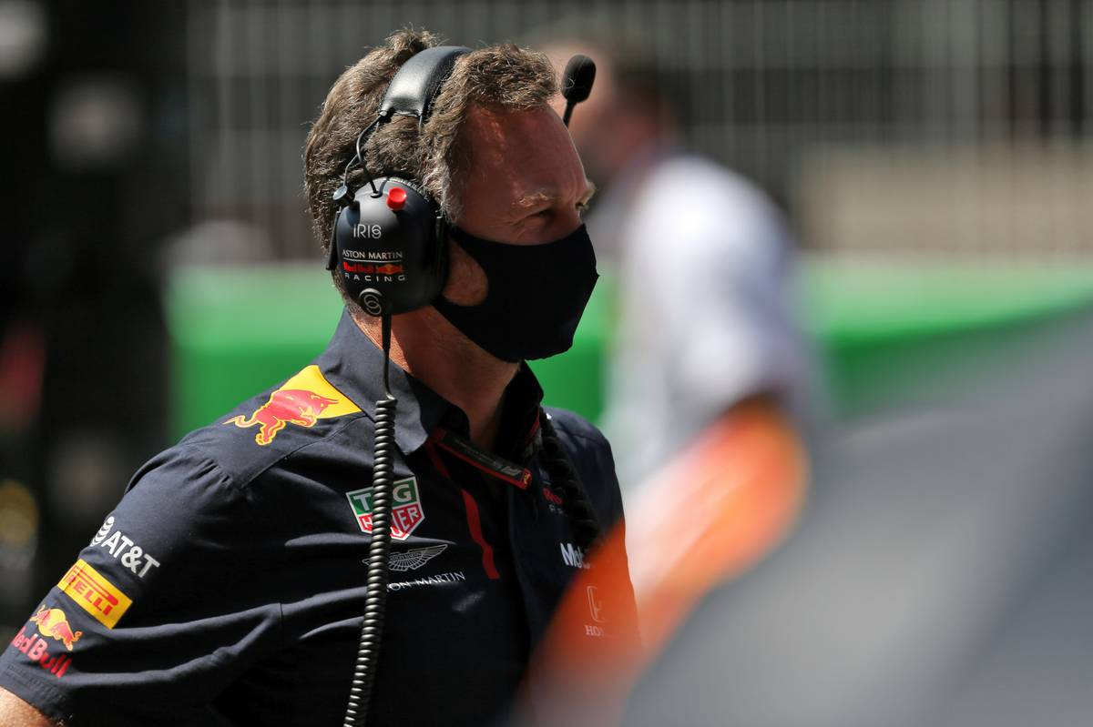 Christian Horner (GBR) Red Bull Racing Team Principal on the grid.