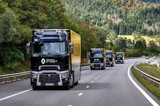 Renault F1 Team trucks heading from Spa to Monza. 03.09.2020. Formula 1 World Championship, Rd 8, Italian Grand Prix, Monza, Italy, Preparation Day. - www.xpbimages.com, EMail: requests@xpbimages.com © Copyright: Moy / XPB Images