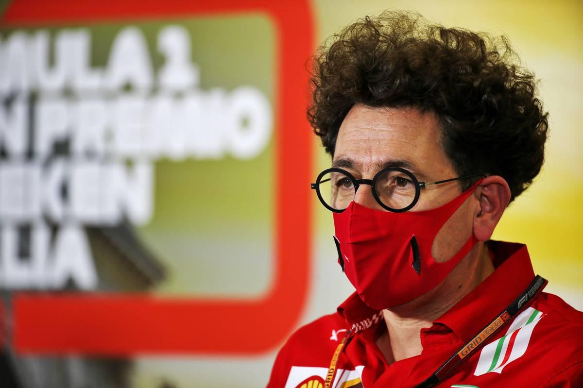 Mattia Binotto (ITA) Ferrari Team Principal in the FIA Press Conference.