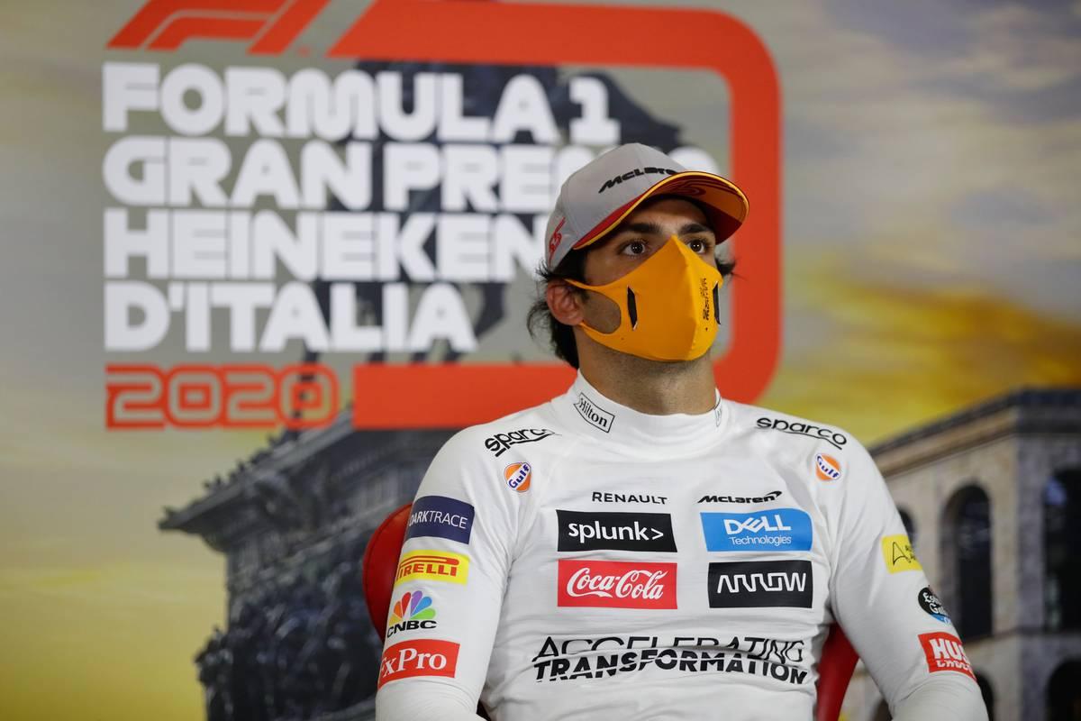 Carlos Sainz Jr (ESP) McLaren in the post qualifying FIA Press Conference.