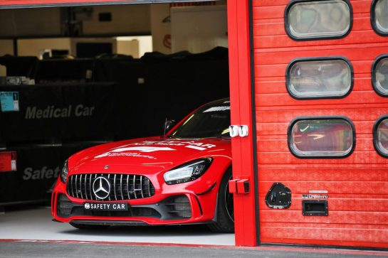 Circuit atmosphere - red FIA Safety Car. 10.09.2020. Formula 1 World Championship, Rd 9, Tuscan Grand Prix, Mugello, Italy, Preparation Day. - www.xpbimages.com, EMail: requests@xpbimages.com © Copyright: Batchelor / XPB Images
