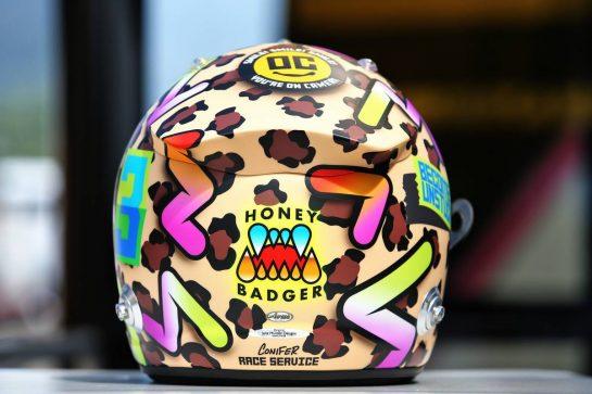 The helmet of Daniel Ricciardo (AUS) Renault F1 Team. 10.09.2020. Formula 1 World Championship, Rd 9, Tuscan Grand Prix, Mugello, Italy, Preparation Day. - www.xpbimages.com, EMail: requests@xpbimages.com © Copyright: Moy / XPB Images