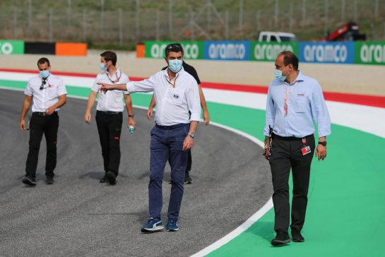 Inspection track by the FIA, Michael Masi (AUS) FIA Race Director10.09.2020. Formula 1 World Championship, Rd 9, Tuscan Grand Prix, Mugello, Italy, Preparation Day.- www.xpbimages.com, EMail: requests@xpbimages.com © Copyright: Charniaux / XPB Images