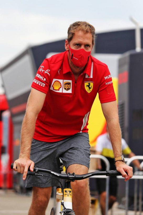 Sebastian Vettel (GER) Ferrari. 10.09.2020. Formula 1 World Championship, Rd 9, Tuscan Grand Prix, Mugello, Italy, Preparation Day. - www.xpbimages.com, EMail: requests@xpbimages.com © Copyright: Moy / XPB Images