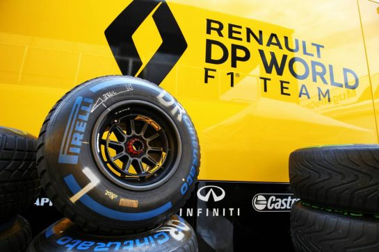 Renault F1 Team - Pirelli tyres. 10.09.2020. Formula 1 World Championship, Rd 9, Tuscan Grand Prix, Mugello, Italy, Preparation Day. - www.xpbimages.com, EMail: requests@xpbimages.com © Copyright: Moy / XPB Images