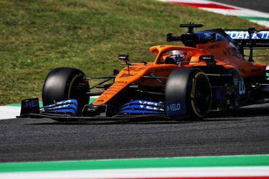 Carlos Sainz Jr (ESP) McLaren MCL35 - front wing. 11.09.2020. Formula 1 World Championship, Rd 9, Tuscan Grand Prix, Mugello, Italy, Practice Day. - www.xpbimages.com, EMail: requests@xpbimages.com © Copyright: Batchelor / XPB Images