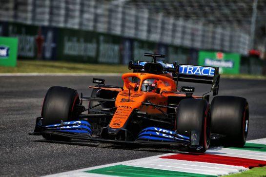 Carlos Sainz Jr (ESP) McLaren MCL35. 11.09.2020. Formula 1 World Championship, Rd 9, Tuscan Grand Prix, Mugello, Italy, Practice Day. - www.xpbimages.com, EMail: requests@xpbimages.com © Copyright: Batchelor / XPB Images