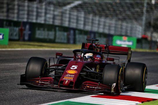 Sebastian Vettel (GER) Ferrari SF1000. 11.09.2020. Formula 1 World Championship, Rd 9, Tuscan Grand Prix, Mugello, Italy, Practice Day. - www.xpbimages.com, EMail: requests@xpbimages.com © Copyright: Batchelor / XPB Images