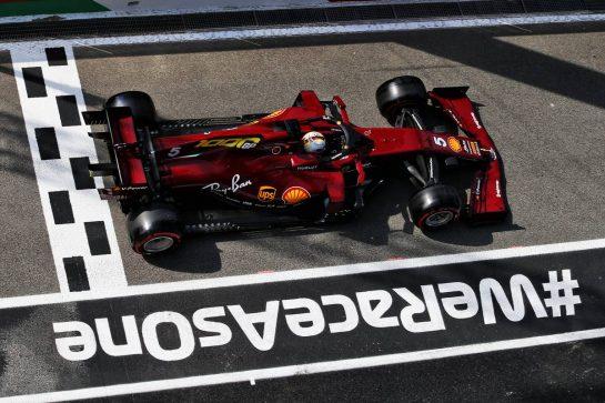Sebastian Vettel (GER) Ferrari SF1000. 11.09.2020. Formula 1 World Championship, Rd 9, Tuscan Grand Prix, Mugello, Italy, Practice Day. - www.xpbimages.com, EMail: requests@xpbimages.com © Copyright: Moy / XPB Images