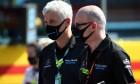 Matthew Savage, Dorilton Capital Chairman - Williams Racing Director and Simon Roberts (GBR) Williams Racing F1 Acting Team Principal on the grid.