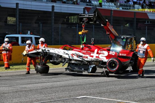Antonio Giovinazzi (ITA) Alfa Romeo Racing C39 crashed out of the race. 13.09.2020. Formula 1 World Championship, Rd 9, Tuscan Grand Prix, Mugello, Italy, Race Day. - www.xpbimages.com, EMail: requests@xpbimages.com © Copyright: Moy / XPB Images