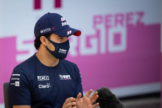 Sergio Perez (MEX) Racing Point F1 Team. 24.09.2020. Formula 1 World Championship, Rd 10, Russian Grand Prix, Sochi Autodrom, Sochi, Russia, Preparation Day. - www.xpbimages.com, EMail: requests@xpbimages.com © Copyright: Bearne / XPB Images