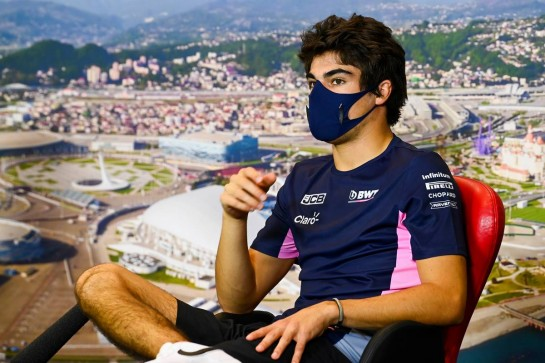 Lance Stroll (CDN) Racing Point F1 Team in the FIA Press Conference. 24.09.2020. Formula 1 World Championship, Rd 10, Russian Grand Prix, Sochi Autodrom, Sochi, Russia, Preparation Day. - www.xpbimages.com, EMail: requests@xpbimages.com © Copyright: FIA Pool Image for Editorial Use Only