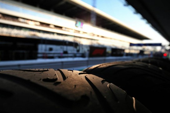 Renault F1 Team - Pirelli tyres in the pits. 24.09.2020. Formula 1 World Championship, Rd 10, Russian Grand Prix, Sochi Autodrom, Sochi, Russia, Preparation Day. - www.xpbimages.com, EMail: requests@xpbimages.com © Copyright: Moy / XPB Images