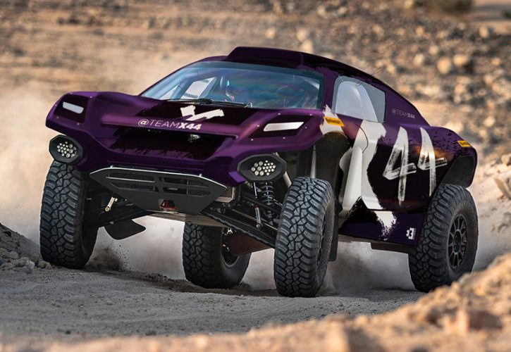 Rendering of the X44 entry in the inaugural Extreme E electric off-roading championship.