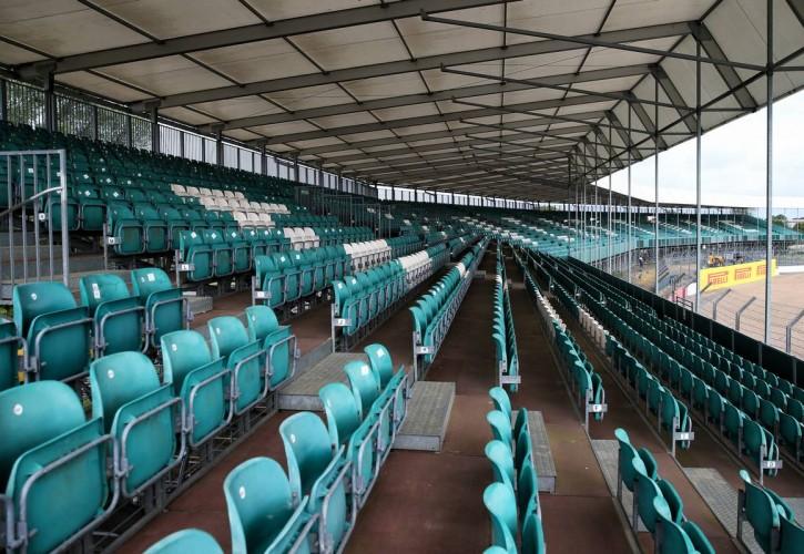 Circuit atmosphere - empty grandstand.