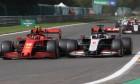 Charles Leclerc (MON) Ferrari SF1000 and Romain Grosjean (FRA) Haas F1 Team VF-20 battle for position.